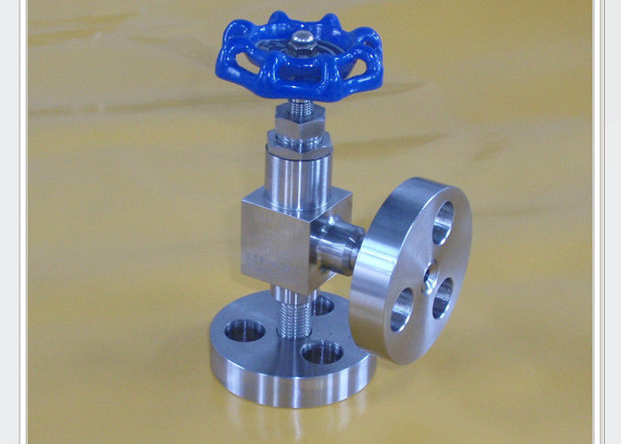High pressure angle type needle valve for marine and dredging PN0.6 Mpa to PN120 Mpa DN6 mm