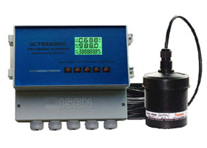 Open Channel Ultrasonic Magnetic Flow Meter For Sewage / Waste Water Treatment 600 m3 / H Converter