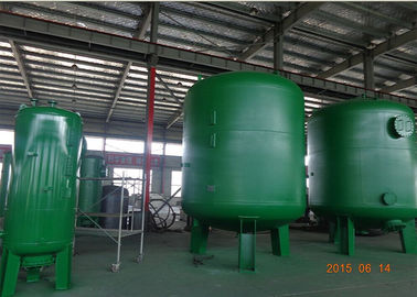 Silica Sand Filter Ro Pressure Water Purifier Tank Dalam Suspended Solids Dan Turbidity Reduction Dia 600-3000 Mm